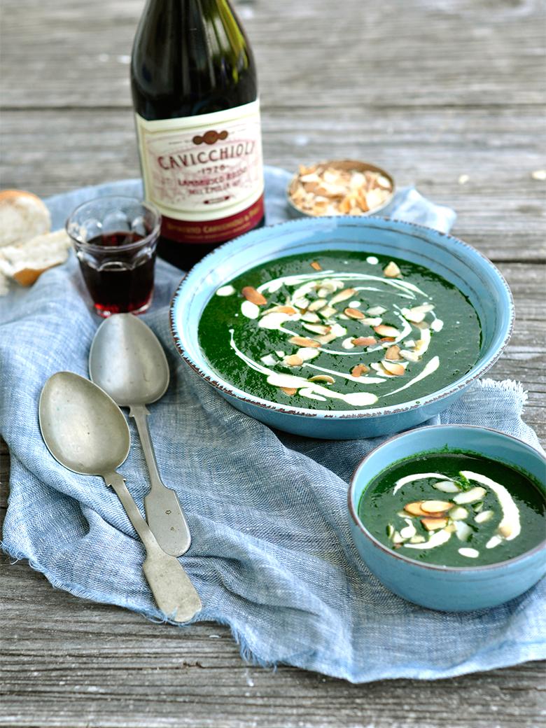 Sopa de Espinaca y Kale